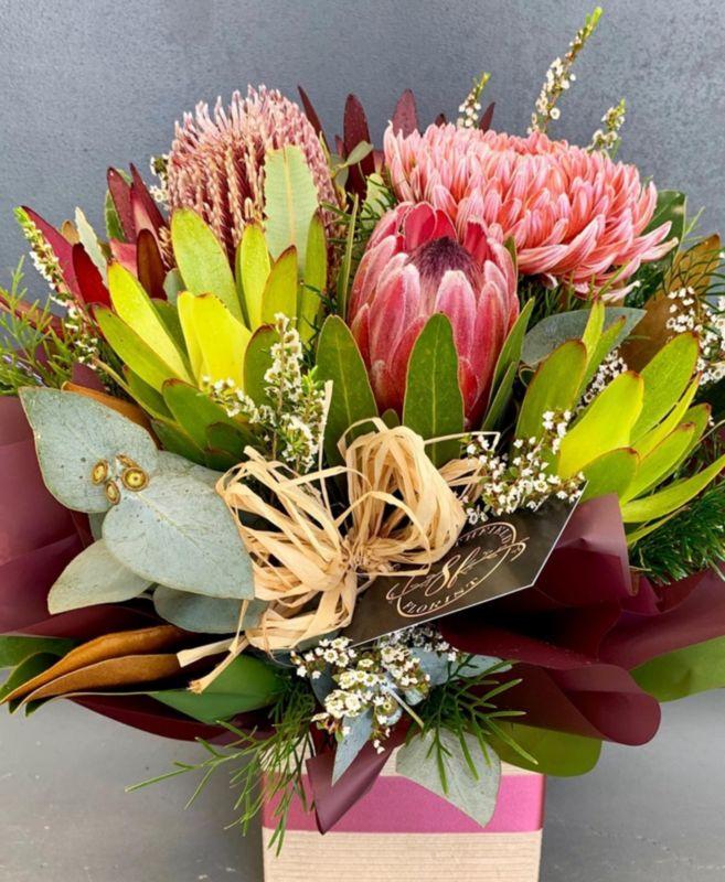Wedding Flowers Cairns: Native Box Arrangement